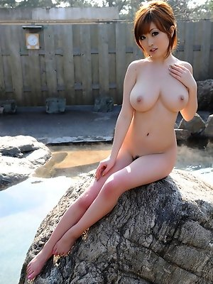 Nude gravure idol with...